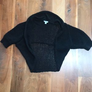 Black Cotton loose weave cardigan. Brand new